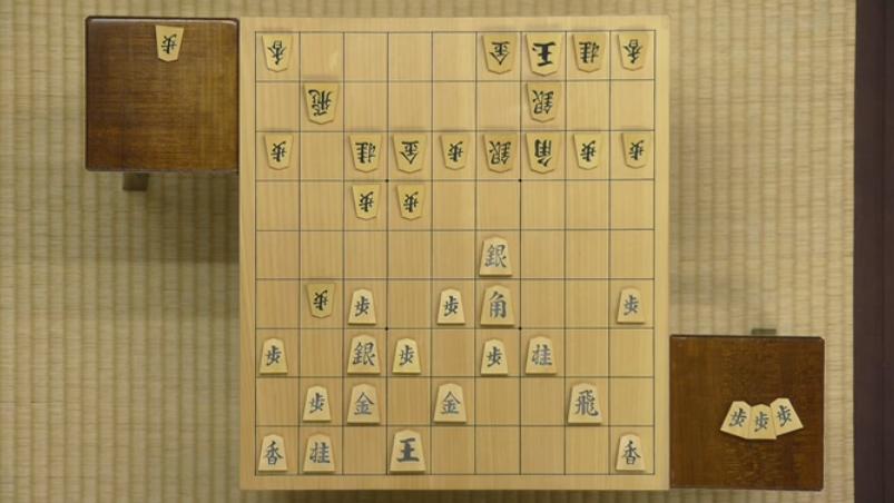 居角左美濃:叡王戦(羽生善治vs屋敷伸之)の△7三桂までの局面図