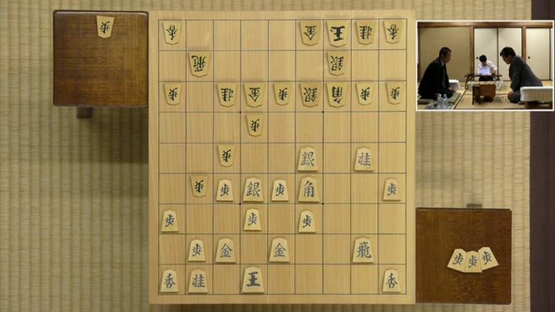 居角左美濃:叡王戦(羽生善治vs屋敷伸之)の▲2五桂までの局面図