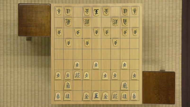 居角左美濃:叡王戦(羽生善治vs屋敷伸之)の△3二銀までの局面図