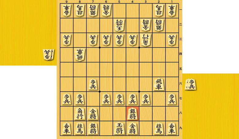 横歩取り△3三角戦法vs▲4八銀型