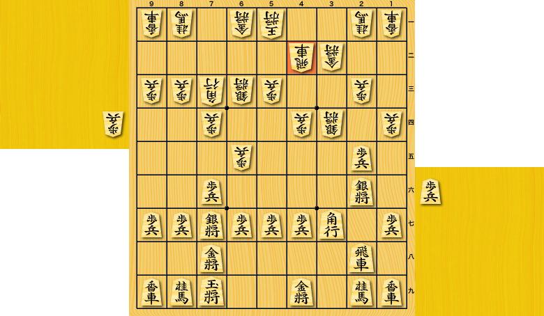 一手損角換わり(棒銀 vs 四間飛車)