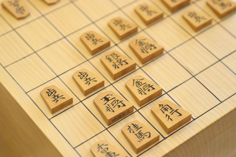 将棋盤と駒2(矢倉早囲い)
