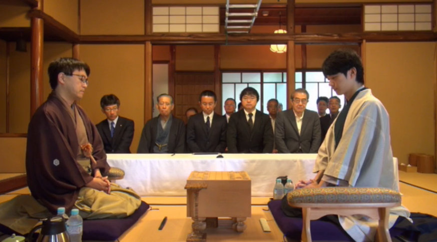 棋聖戦第3局羽生斎藤(対局開始直前の様子)